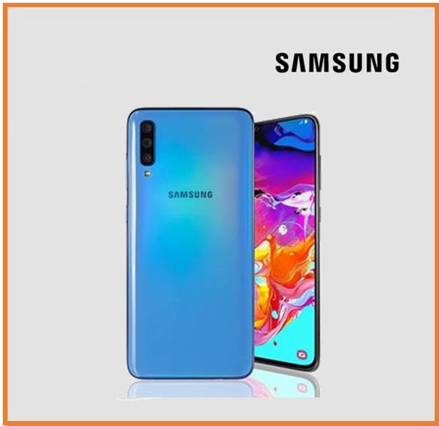 SAMSUNG A70 8GB RAM 128GB STORAGE BLUE