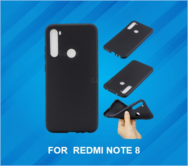 REDMI NOTE 8 RUBBER SPIGON BACK COVER BLACK