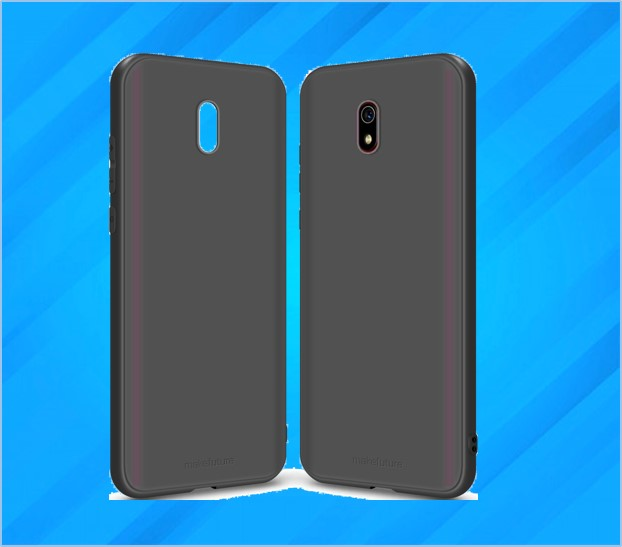 REDMI 8A RUBBER SPIGON BACK COVER BLACK